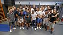 Pedro Rodríguez et les joueurs du Barça / MIGUEL RUIZ - FCB