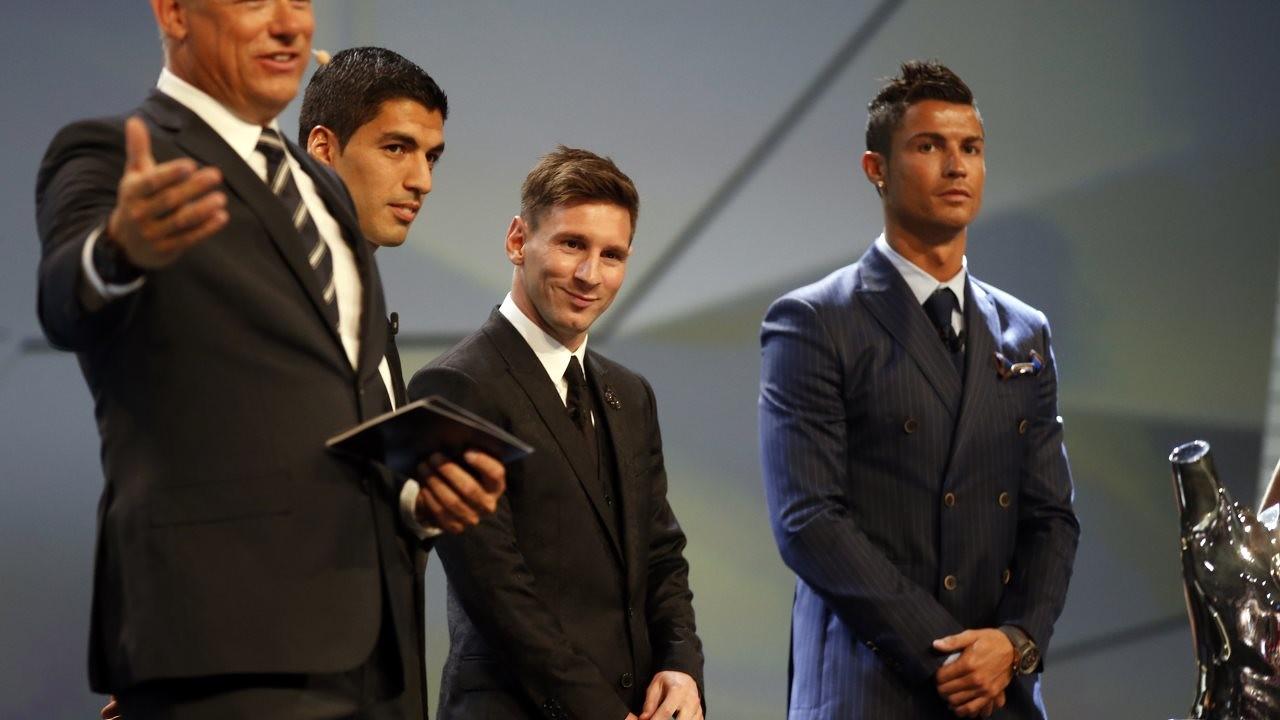 Suárez, Messi e C. Ronaldo, os finalistas ao prêmio de melhor jogador da UEFA / Miguel Ruiz-FCB