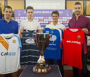 Els capitans dels quatre equips han estat els protagonistes de la presentació de la Copa Catalunya