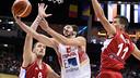 Pau Ribas being challenged by  Kuzmic iandNedovic / eurobasket.com