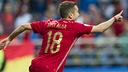 Alba, après son but / UEFA.COM