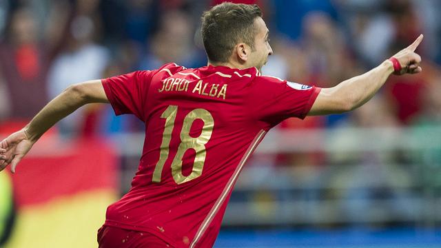 Jordi Alba opens the scoring after five minutes in Oviedo / UEFA.COM