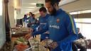 L'equip en l'esmorzar a l'hotel de Doha / FOTO:FCB