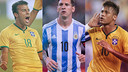 Rafinha, Messi and Neymar score for their countries / FCB