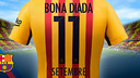 The Barça away strip is based on the colours of the Catalan flag, known as 'La Senyera' / FCB