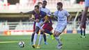 Grimaldo, uno de los protagonistas del partido de este sábado en el Mini / VICTOR SALGADO-FCB