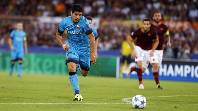 Luis Suárez scored the first goal of Barça's Champions League campaign / MIGUEL RUIZ - FCB