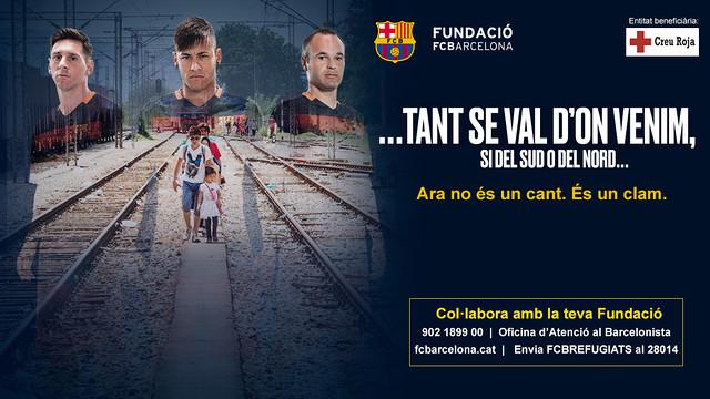 El cartel de la campaña 'No importa de dónde venimos'
