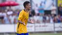 Maxi Rolón ha marcado el gol de la victoria / VICTOR SALGADO - FCB (Archivo)