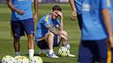 Leo Messi during a training session / MIGUEL RUIZ - FCB