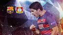 Luis Suárez, celebrant un gol / FCB