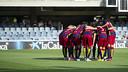 El Barça B de Gerard López quiere seguir creciendo como equipo / VÍCTOR SALGADO - FCB