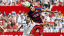 Sergio Busquets in action against Sevilla / MIGUEL RUIZ - FCB