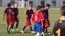 Aleví A celebrant un dels gols contra el Manresa / GERMÁN PARGA - FCB