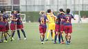 The women celebrate a goal against Valencia / VÍCTOR SALGADO - FCB