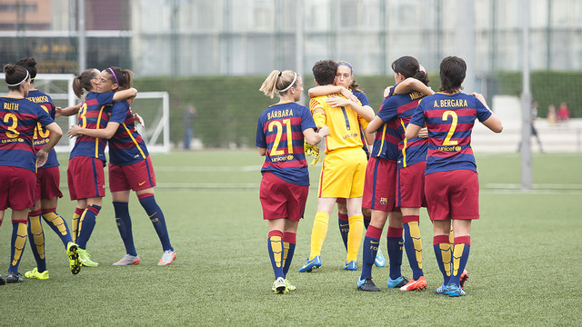 The women celebrate a goal against Valencia / VÍCTOR SALGADO - FCB