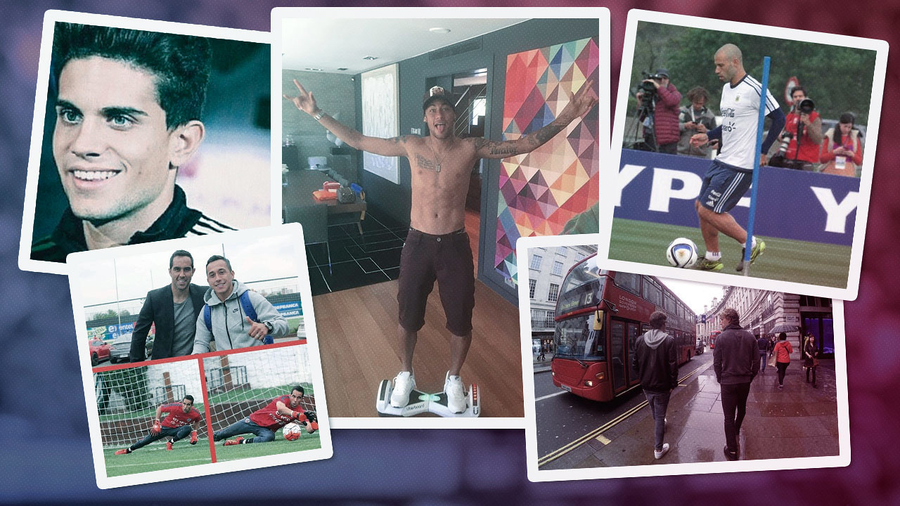 Players' photos from social networks / FCB