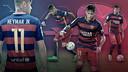 Les statistiques de Neymar / FOTOMONTAJE FCB
