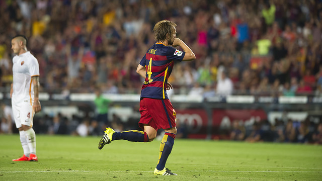 Rakitic was a key player on Barça's 2014/15 treble-winning team. / VÍCTOR SALGADO-FCB