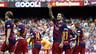 Luis Suárez celebra um gol contra o UD Las Palmas