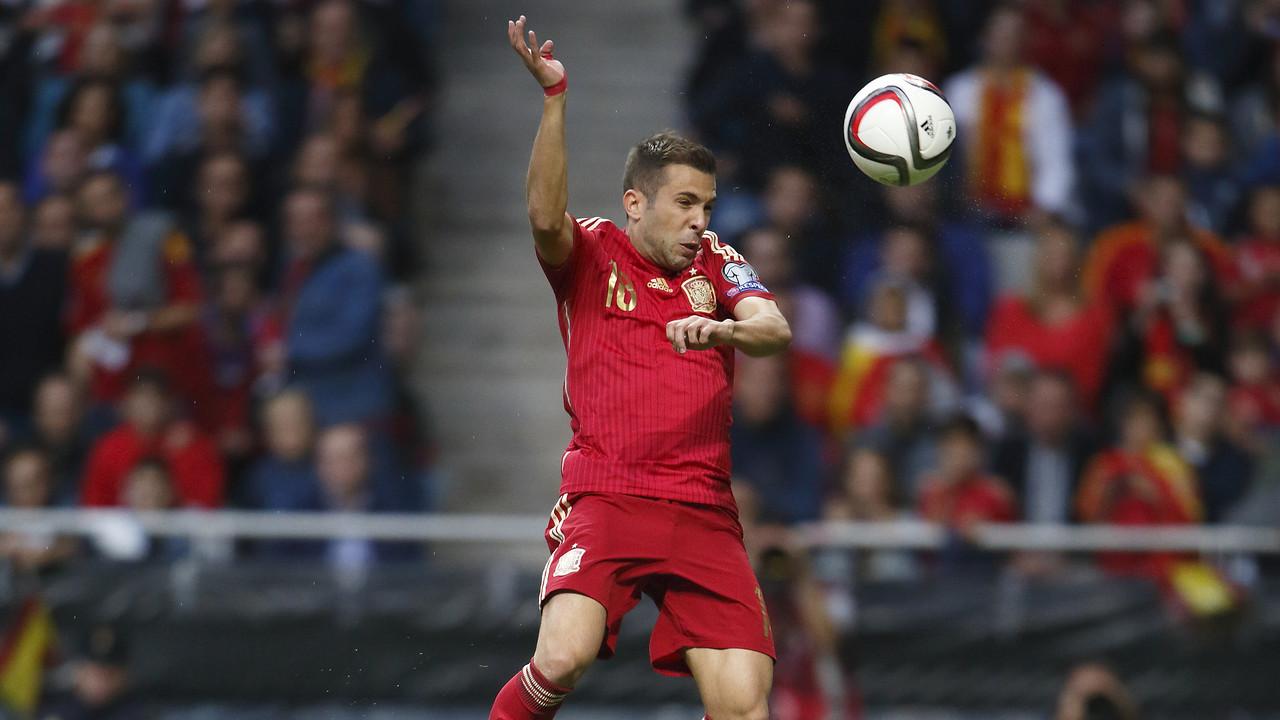 Jordi Alba, en un partit de la selecció espanyola / SEFUTBOL.COM
