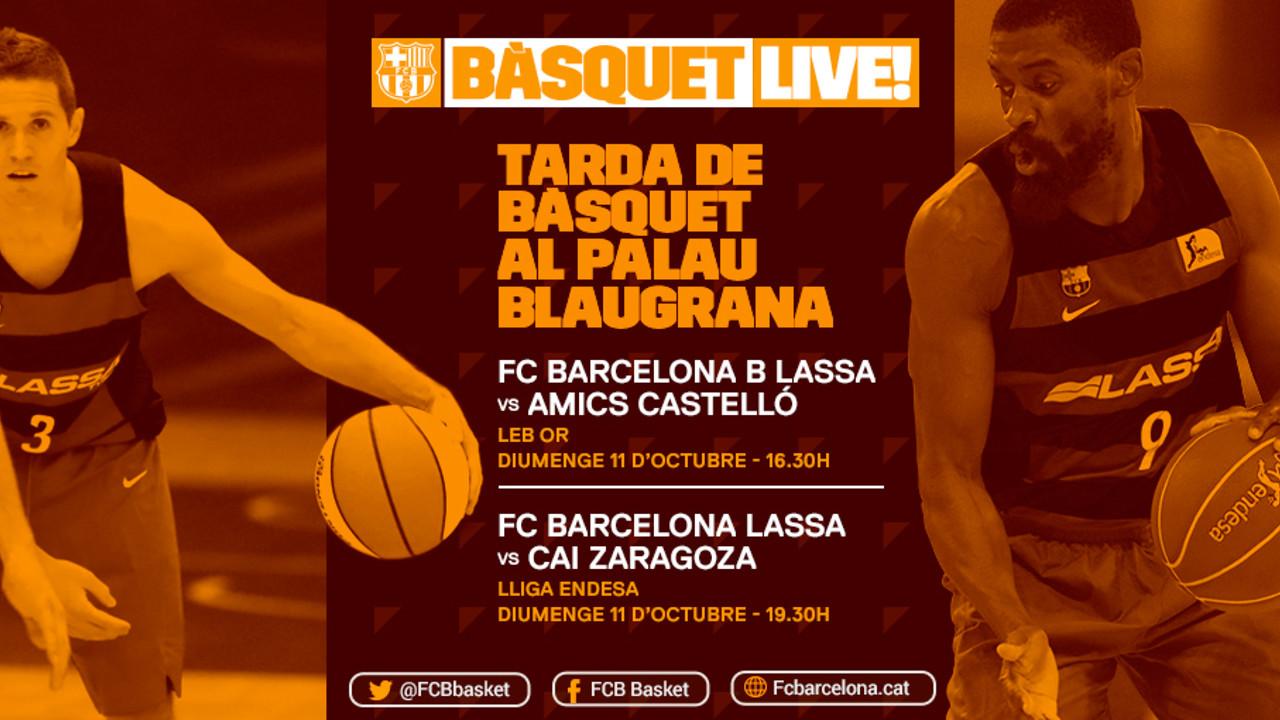 Este domingo, disfruta con el primer equipo y el Barça B