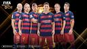 From left to right: Javier Mascherano, Ivan Rakitic, Neymar, Lionel Messi, Andrés Iniesta and Luis Suárez. / FCB Infographic