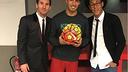 Messi, Suárez and Neymar after the game against Eibar / INSTAGRAM