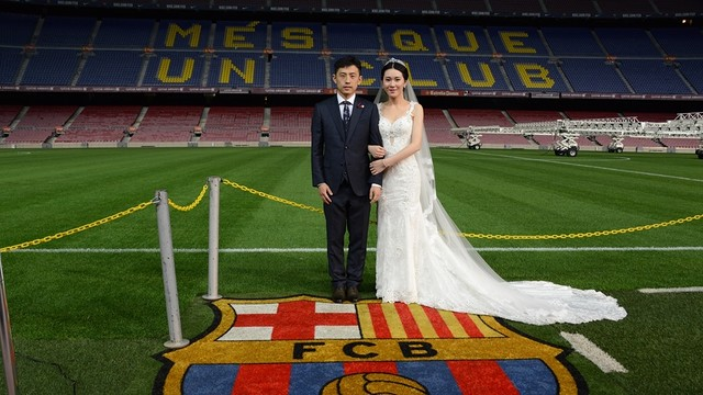 Chinese wedding at Camp Nou / Sixiang Zhan - FCB