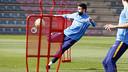 Gerard Piqué in training at the Ciutat Esportiva / MIGUEL RUIZ - FCB