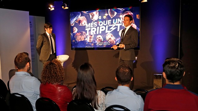 Belletti at the presentation at the Museum / MIGUEL RUIZ-FCB