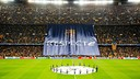 The banner, asking for 'Respect' / GERMÁN PARGA-FCB