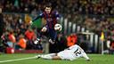 Messi, en el Clàssic de la temporada passada al Camp Nou / MIGUEL RUIZ - FCB