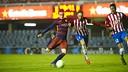 Àlex Carbonell, en el momento de marcar el gol de la victoria / VICTOR SALGADO-FCB
