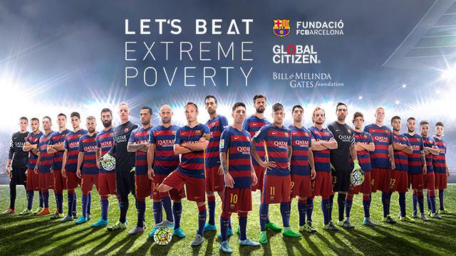 Imatge de la campanya 'Let's beat extreme poverty'.