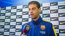 Gerard López ha atendido a los medios del Club antes de visitar Sabadell / VÍCTOR SALGADO - FCB