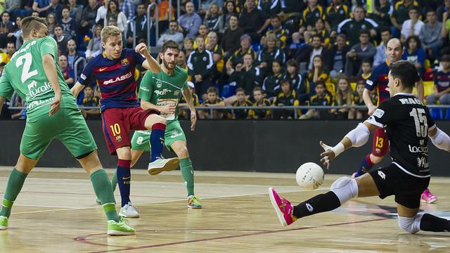 El Barça Lassa intentará ganar el décimo partido en la LNFS