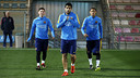 Leo Messi, Luis Suárez et Neymar avant le dernier entraînement / MIGUEL RUIZ - FCB
