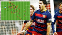 Premier but de Suarez lors du Clasico / PHOTO: MIGUEL RUIZ - FCB