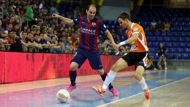 El Barça Lassa jugó seis veces la temporada pasada ante el Ribera Navarra