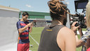 Suárez, en el rodaje de la campaña / FCB