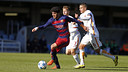 Carles Aleñá excelled at the Miniestadi against Roma in the Youth League / MIGUEL RUIZ - FCB