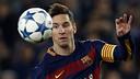 Messi va tornar a jugar al Camp Nou contra la Roma / MIGUEL RUIZ - FCB