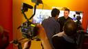 Vermaelen speaking to the Barça TV cameras / VICTOR SALGADO - FCB