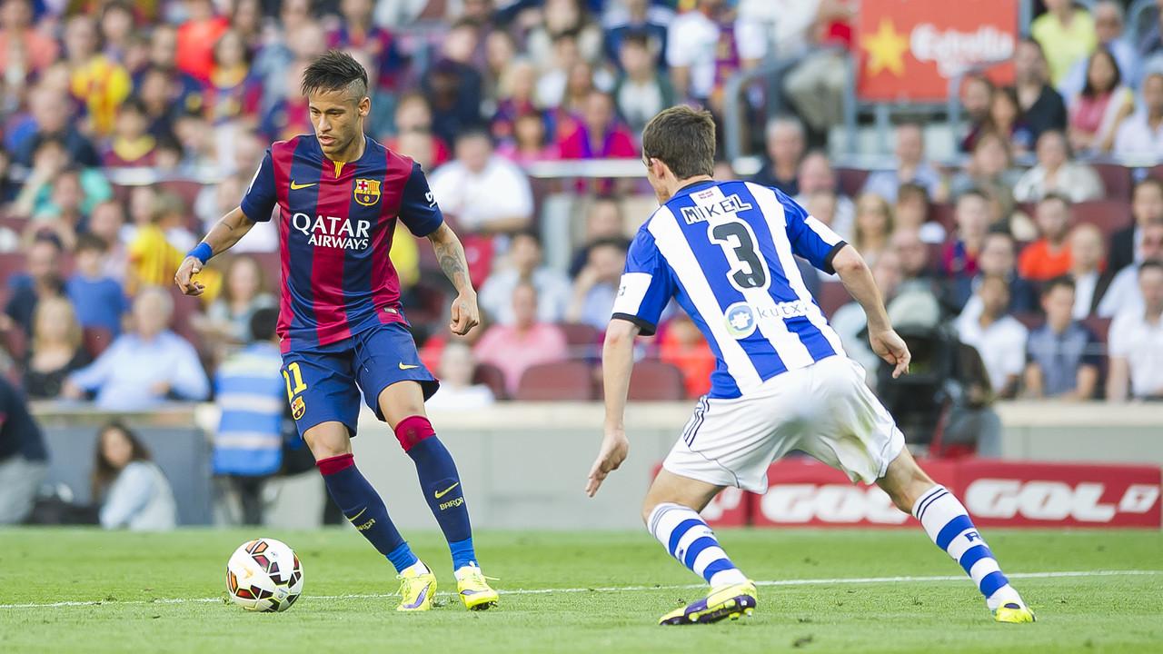 Neymar, en una acció del partit contra la Reial Societat de la temporada passada / MIGUEL RUIZ - FCB