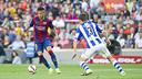 Neymar, en action contre la Real Sociedad l'an passé/ MIGUEL RUIZ - FCB