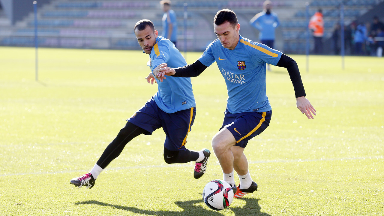 Sandro and Vermaelen in training on Monday / MIGUEL RUIZ-FCB