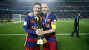 Messi and Iniesta after winning World Cup in Japan / MIGUEL RUIZ - FCB