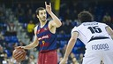 Pau Ribas led Barça with 17 points and 4 assists in the win over Bilbao on Wednesday night. / VICTOR SALGADO - FCB