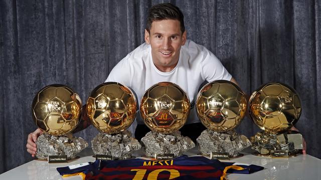 Lionel Messi Ballon D or 5